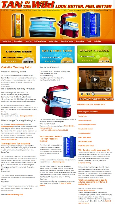 Tan In The Wild Website Design Project